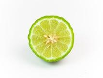 Bergamot. Half on white background stock image