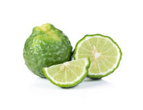 Bergamot. Isolated on white background stock photography