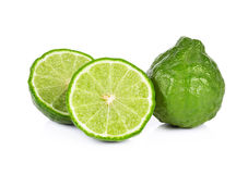 Bergamot isolated white background stock images