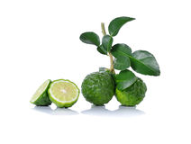 Bergamot. Or isolated on white background stock photo