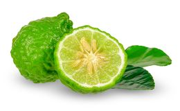 Bergamot isolated on white with clipping path.  stock photos