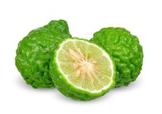 Bergamot isolated on white with clipping path.  stock images