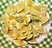 Bergamot in the italian grocery store in Calabria. Slices bergamot in the grocery store in Calabria in Italy royalty free stock photo