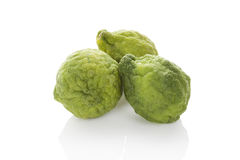 Bergamot orange. Bergamot oranges on white background. Culinary asian tropical fruit eating stock images