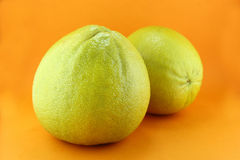 Bergamot. Oranges on orange background royalty free stock images