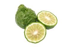 Bergamot slice herb fresh ingredient food tom yam isolated Royalty Free Stock Images