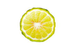Bergamot. Slice on white background stock photos