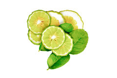 Bergamot. Slice on white background Stock Image