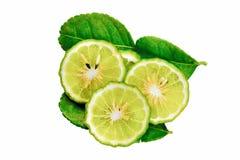 Bergamot. Slice on white background Stock Photo