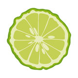 Bergamot sliced in half Stock Image