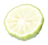 Bergamot sliced. Isolated on white background stock photography