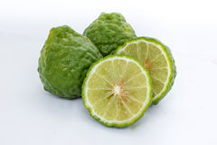 Bergamot. Tree raw green bergamot,that fruit and herb stock photos