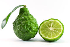 Bergamot on white background Stock Images