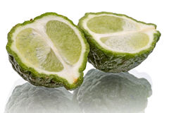 Bergamot on white Stock Photos