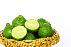 Bergamotfruit in mand Stock Afbeelding