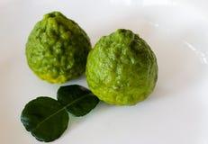 Bergamotlimefrukt Arkivbild
