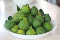 Bergamottenfrucht für gesundes und Vitamin C und Badekurort Lizenzfreies Stockfoto