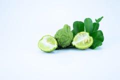 Bergamotto su fondo bianco Fotografia Stock