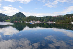 Bergan fjord, Norway Royalty Free Stock Photos