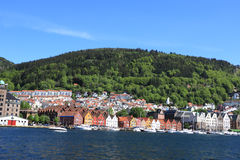 Bergan storico Norvegia Immagine Stock Libera da Diritti