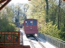 Bergbahn Kormarkt-Molkenkur, Koenigstuhl Fotos de Stock Royalty Free