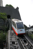 Bergbahn zur Hohensalzburg Festung Stockfotografie