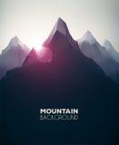 Bergbakgrund Arkivfoto