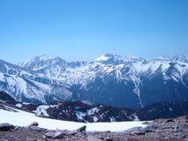 Bergbakgrund, Tatra berg, Polen Arkivbilder