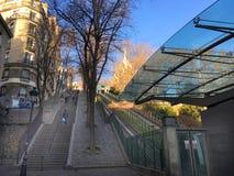 Bergbana eller trappa Arkivbilder
