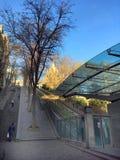 Bergbana eller trappa Arkivfoton