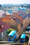 Bergbana i Zagreb Royaltyfri Fotografi
