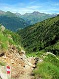 Bergbana - italienska fjällängar Arkivfoton