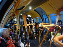 Bergbana Ski Lift Royaltyfria Foton
