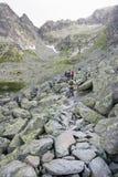 Bergbana som ska nås en höjdpunkt Royaltyfri Fotografi