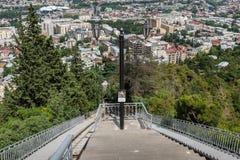 Bergbana Tbilisi Georgia Europe Royaltyfri Fotografi