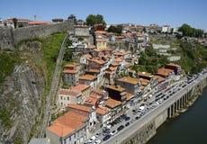 BergbanaDOS Guindais i den historiska staden Porto i Portugal Royaltyfria Foton