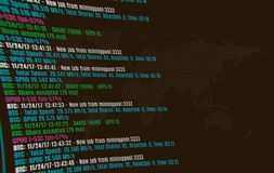 Bergbau cryptocurrency Hintergrund Bitcoin Stockbild