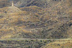 Bergbau-Erbe, Führungsgießerei, nahe Villaricos, AlmerÃa, Andalusien, Spanien Stockfotografie