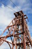 Bergbau Headframe lizenzfreies stockbild
