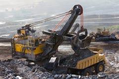 Bergbau-LKW-Funktion Stockfotografie