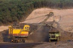 Bergbau-LKW-Funktion Stockfotos