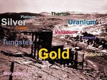 Bergbau nach Mineral stockfotografie