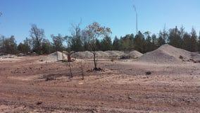 Bergbau nach Opalen und Bergbauleben im NSW-Hinterland Opal Fields, New South Wales, Australien Stockbild