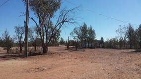 Bergbau nach Opalen und Bergbauleben im NSW-Hinterland Opal Fields, New South Wales, Australien Lizenzfreies Stockbild