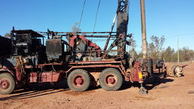 Bergbau nach Opalen und Bergbauleben im NSW-Hinterland Opal Fields, New South Wales, Australien Stockfotografie