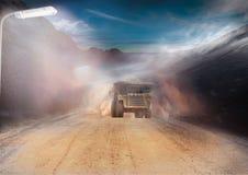 Bergbau-Tätigkeit stockbild