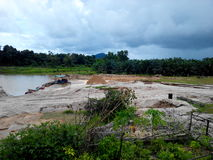 Bergbau in Thailand Lizenzfreie Stockbilder