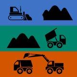 Bergbau und Transport des Sandes Lizenzfreie Stockfotografie