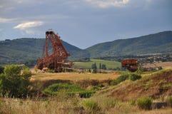 Bergbauexkavator Lizenzfreies Stockbild