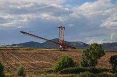 Bergbauexkavator Stockfoto